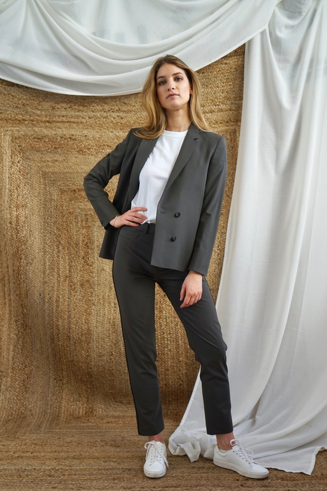 Pantalon tailleur new-york taupe - 17h10 num 1