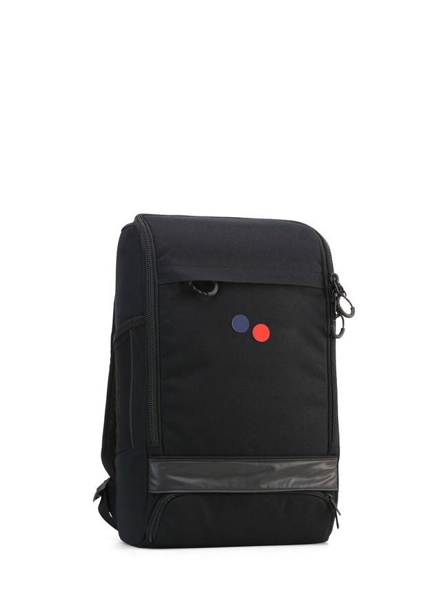Sac à dos noir recyclé - cubik medium licorice black - pinqponq