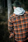 Surchemise à carreaux orange et marron en coton bio - pine - Knowledge Cotton Apparel - 6