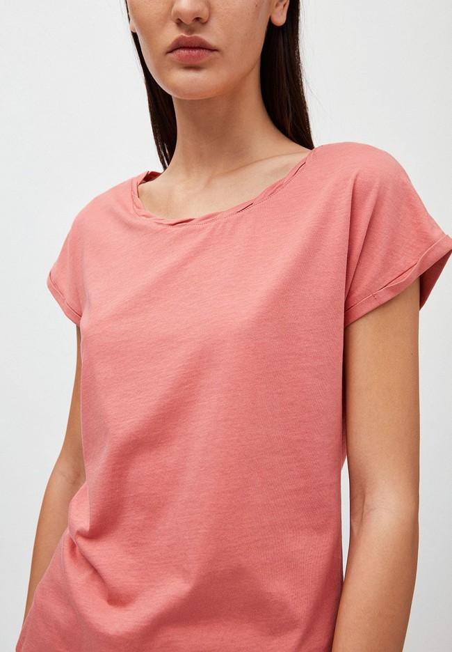 T-shirt uni rose pâle en coton bio - laale - Armedangels num 2