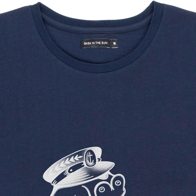 T-shirt en coton bio navy flipgirl - Bask in the Sun num 1