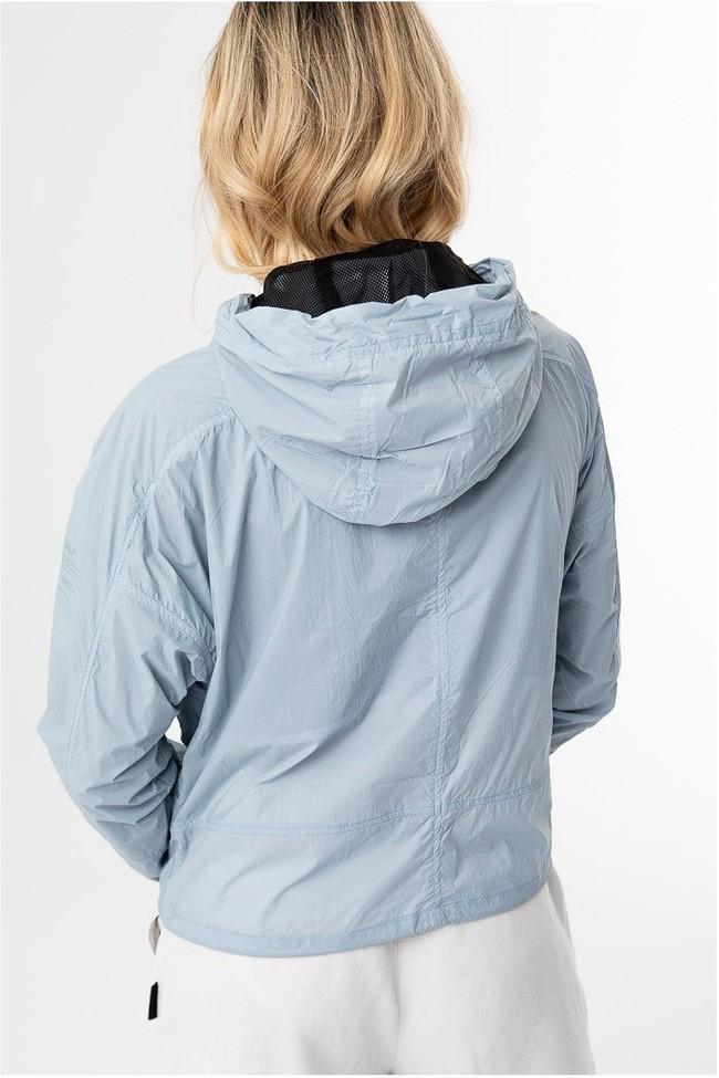 Coupe-vent bleu clair en nylon recyclé - alessandra - Ecoalf num 2