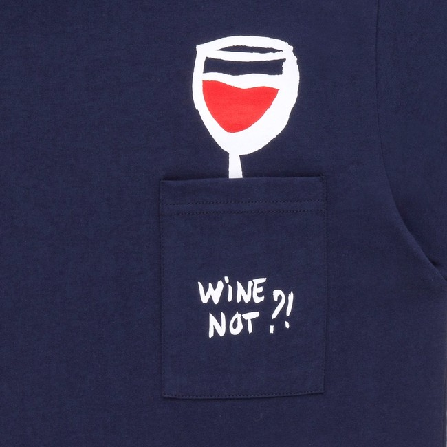 T-shirt en coton bio navy wine - Bask in the Sun num 2