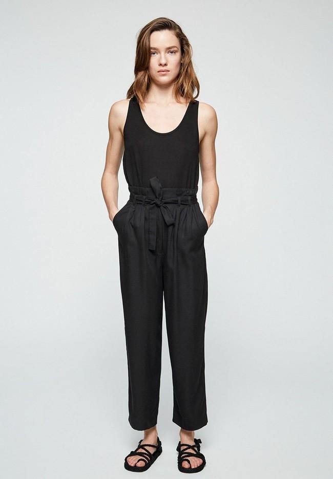 Pantalon noir en tencel - timeaa - Armedangels num 1