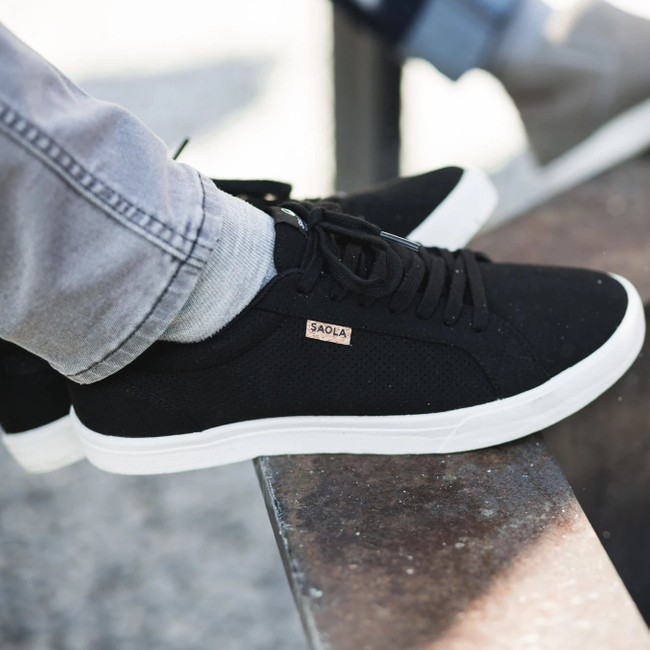 Chaussures recyclées cannon noir homme - Saola num 1