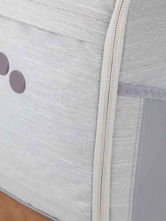 Sac à dos gris clair recyclé - cubik medium grey melange dlx - pinqponq num 5
