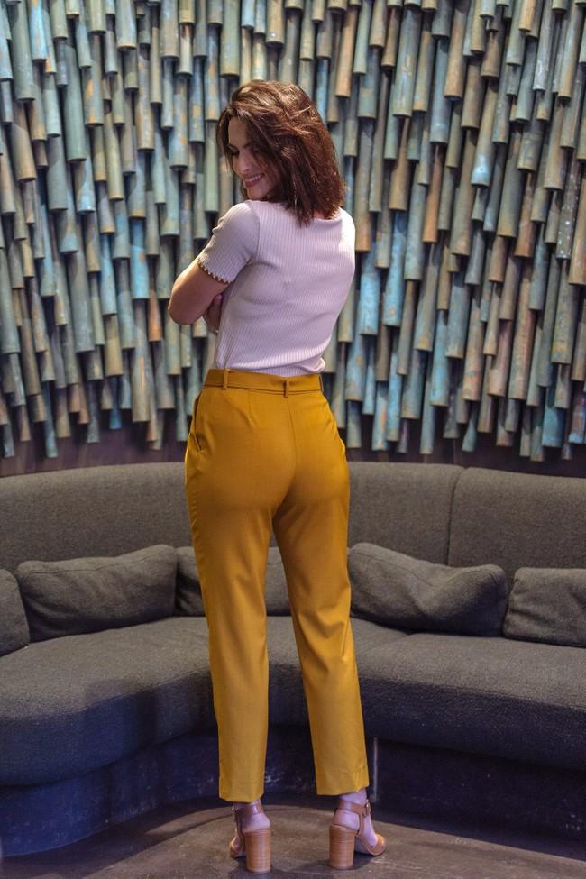Pantalon tailleur casablanca jaune safran - 17h10