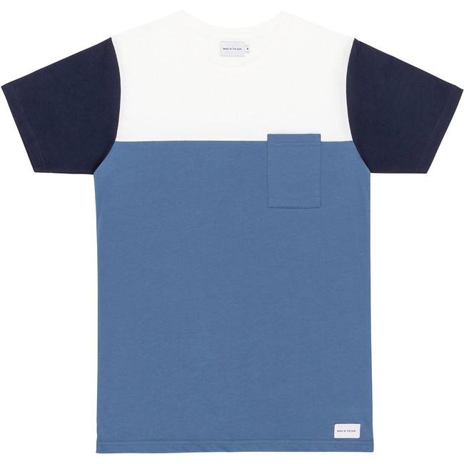 T-shirt en coton bio blue teofilo - Bask in the Sun