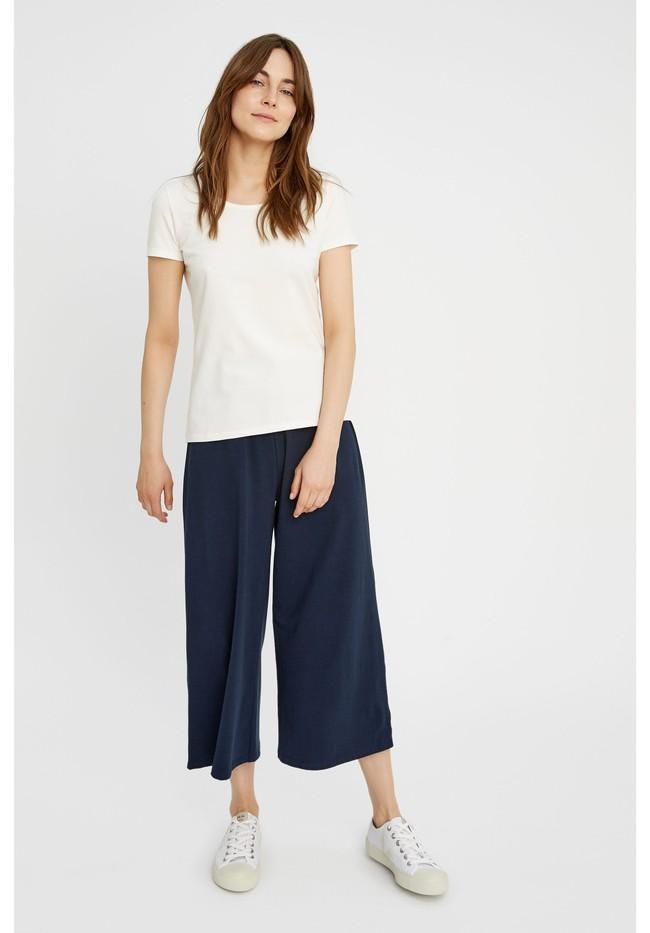 T-shirt col rond blanc en coton bio - gaia - People Tree num 3