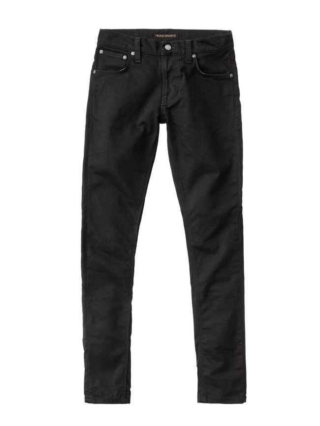 Jean skinny noir coton bio - tight terry deep black - Nudie Jeans num 4