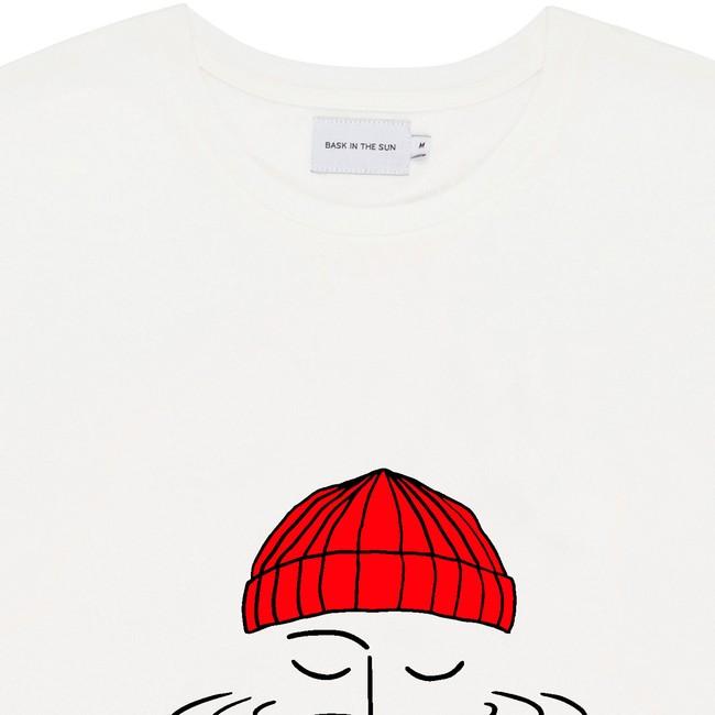 T-shirt en coton bio white sailor - Bask in the Sun num 1