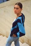 Cardigan zebra - deep blue - Andore Paris - 1