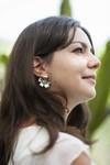 Boucles d'oreilles fleur murraya - argent recyclé - Elle & Sens - 1