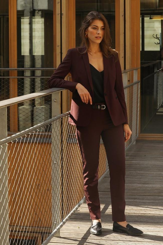 Pantalon tailleur new-york prune - 17h10 num 2