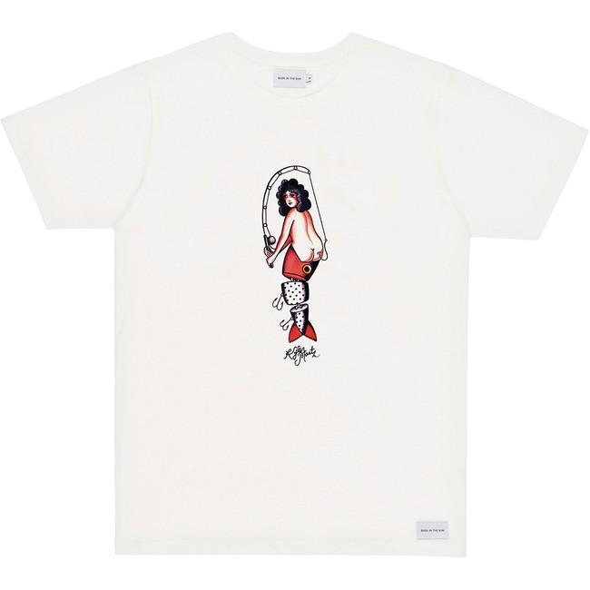 T-shirt en coton bio natural hook - Bask in the Sun