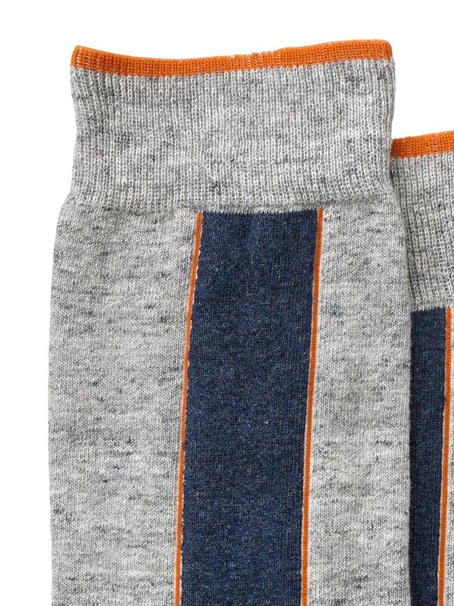 Chaussettes hautes grises en coton bio - olsson - Nudie Jeans num 1