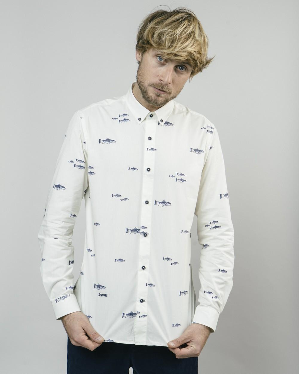 River trout printed shirt - Brava Fabrics