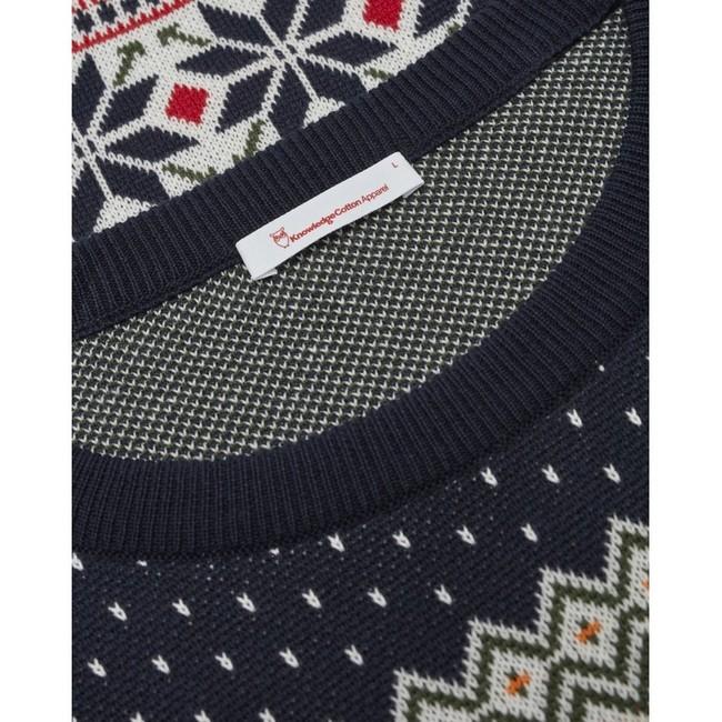 Pull à motifs en coton bio - xmas knit - Knowledge Cotton Apparel num 2