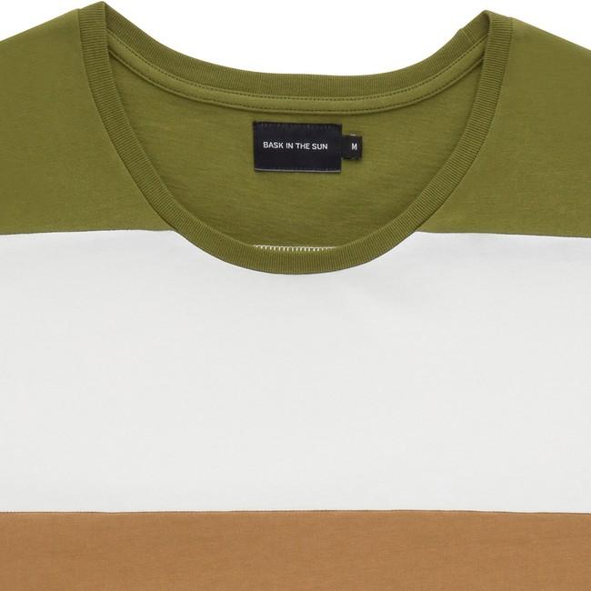 T-shirt en coton bio kaki cenitz - Bask in the Sun num 1