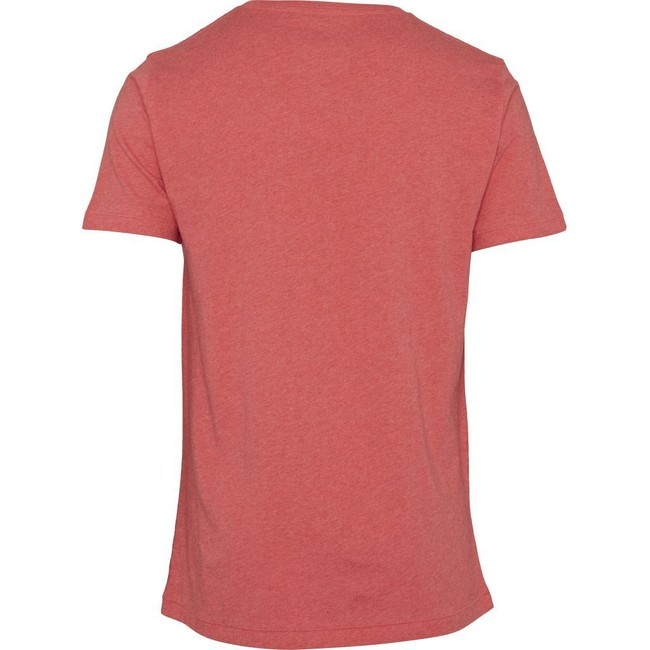 T-shirt corail en coton bio - Knowledge Cotton Apparel num 1