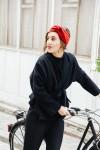 Bandeau cheveux velours rouge - Les Récupérables - 4