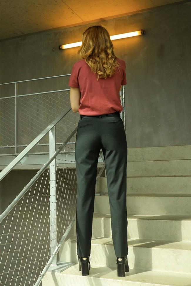 Pantalon tailleur new-york vert profond - 17h10 num 5