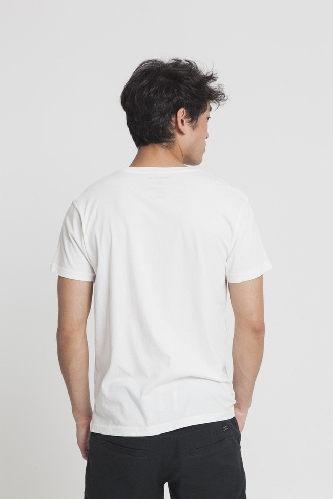 T-shirt imprimé blanc en coton bio - united humans - Thinking Mu num 1