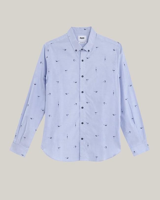 Vintage swimmer printed shirt - Brava Fabrics num 2
