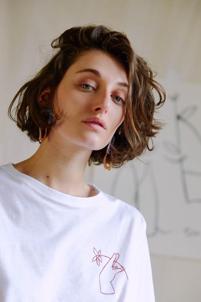 T-shirt coton bio - noyoco x diane - Noyoco num 9