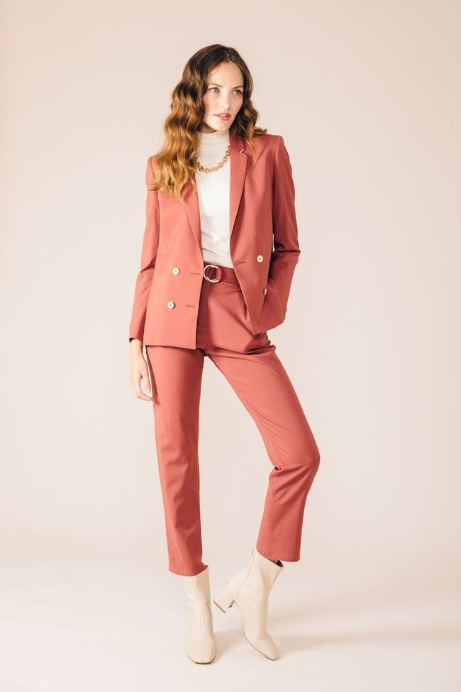 Pantalon tailleur casablanca rose brique - 17h10 num 3