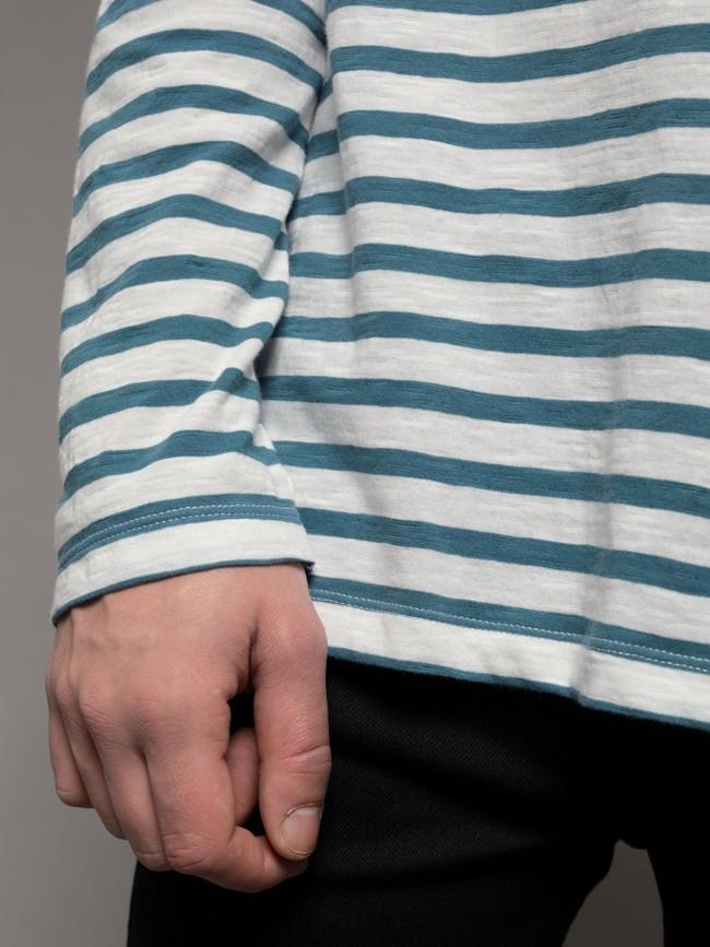 Sweat rayé marine en coton bio - otto breton - Nudie Jeans num 2