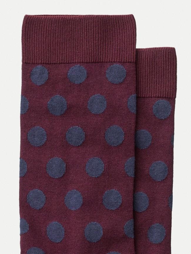 Chaussettes hautes imprimées figue - olsson dot - Nudie Jeans num 1