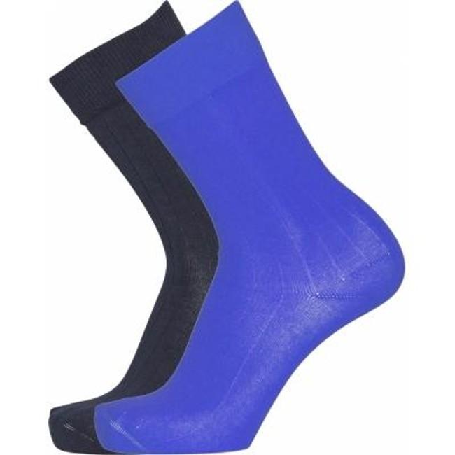 Pack 2 paires de chaussettes bleu et bleu nuit en coton bio - timber - Knowledge Cotton Apparel
