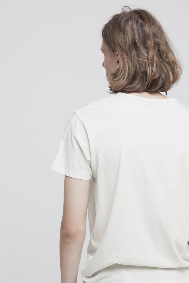 T-shirt imprimé blanc en coton bio - 1000 km to surf - Thinking Mu num 2