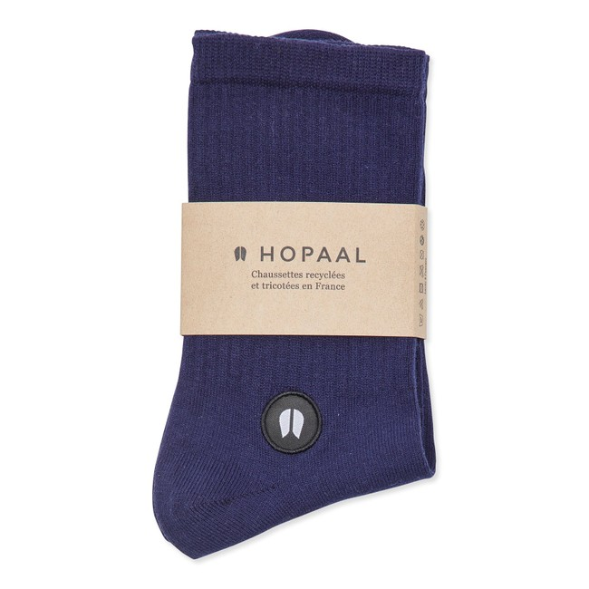 Chaussettes recyclées - field azulon - Hopaal