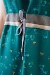 """Robe """"odyssée"""" motif ruche - Bleu Tango - 3"""