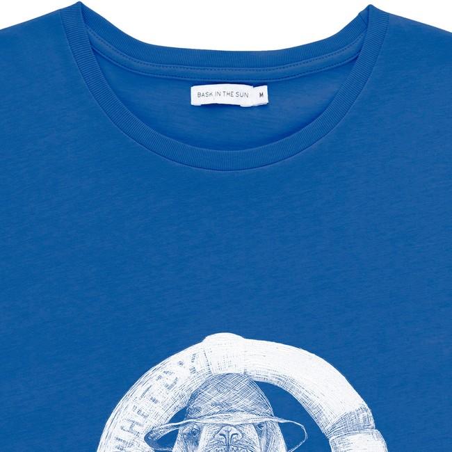 T-shirt en coton bio blue walrus - Bask in the Sun num 1