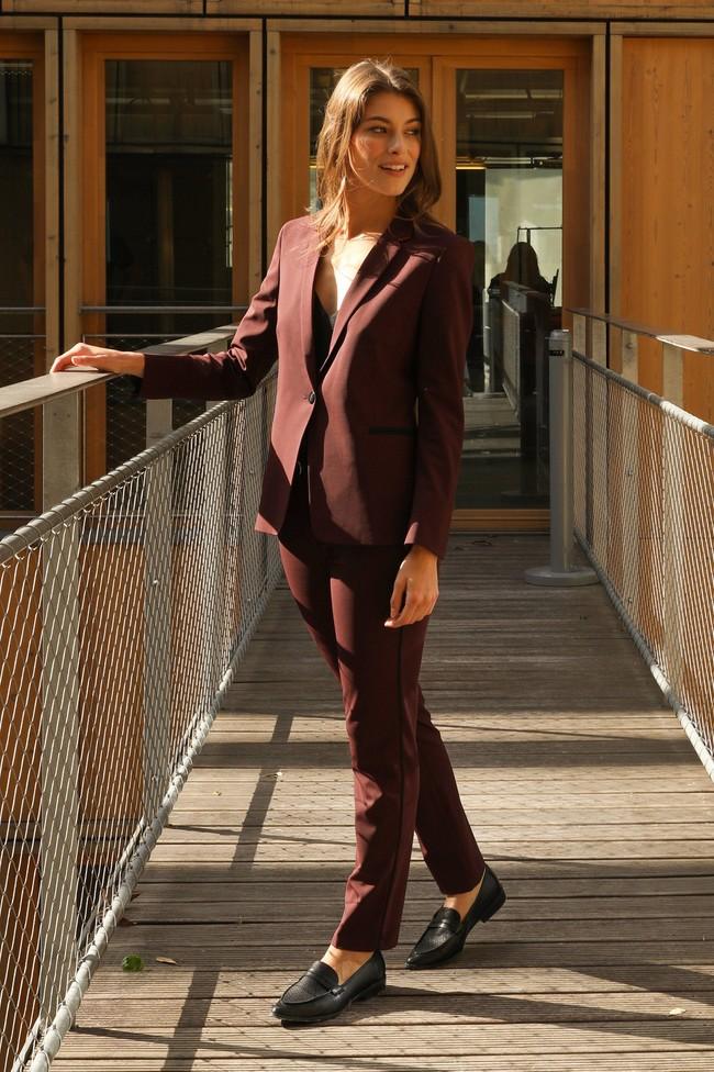 Pantalon tailleur new-york prune - 17h10 num 3