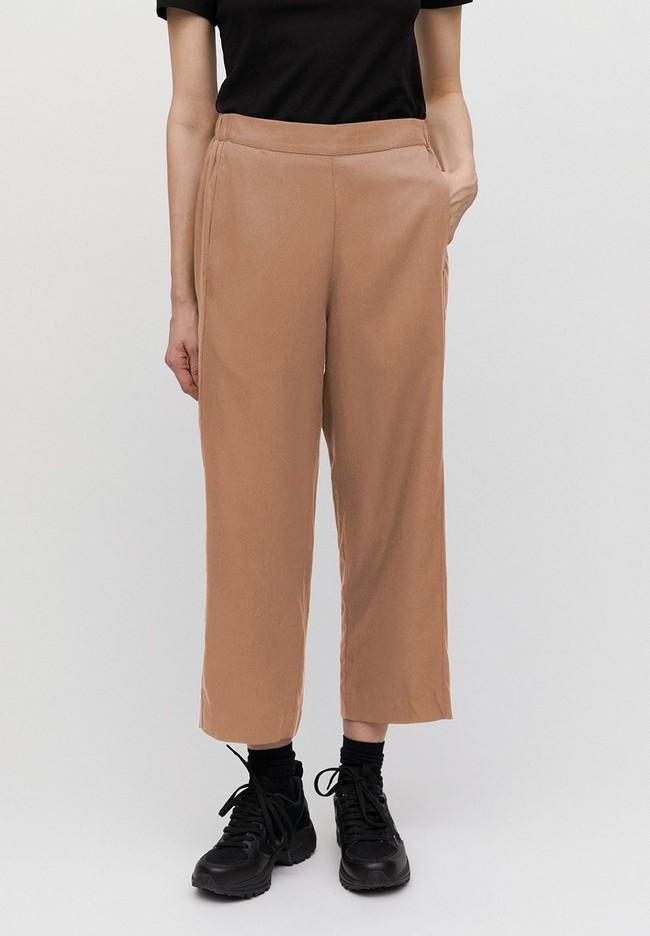 Pantalon ample camel en tencel - kamalaa - Armedangels num 1