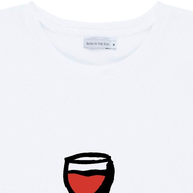 T-shirt en coton bio white wine - Bask in the Sun num 1