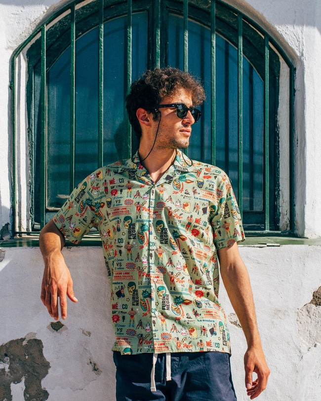 Lucha libre aloha shirt - Brava Fabrics num 4