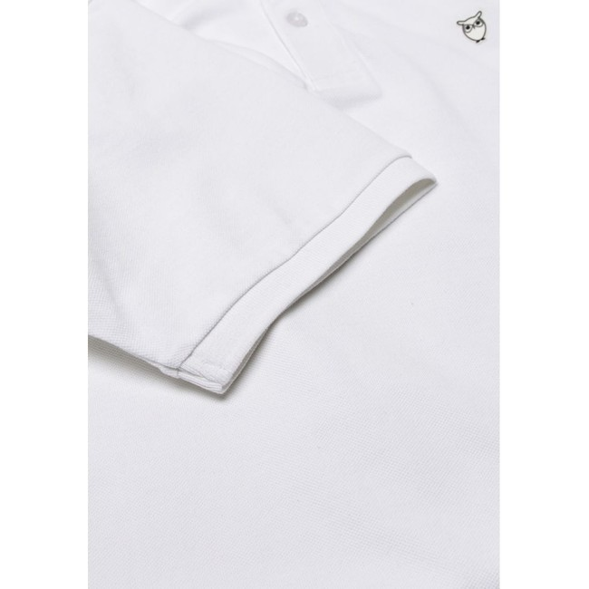 Polo blanc en coton bio - pique polo - Knowledge Cotton Apparel num 2