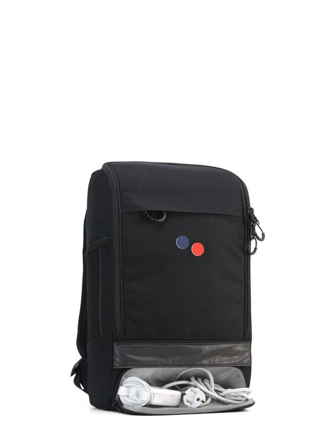 Sac à dos noir recyclé - cubik medium licorice black - pinqponq num 1