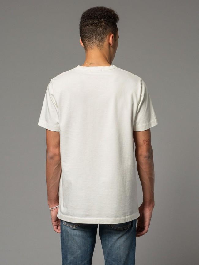 T-shirt blanc avec logo - roy multi logo boy - Nudie Jeans num 3