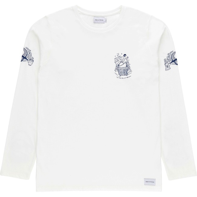 T-shirt en coton bio white coffee ls - Bask in the Sun