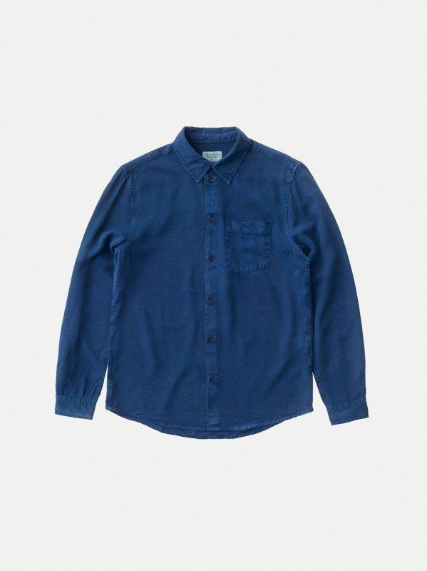 Chemise bleue en twill  - chuck smooth - Nudie Jeans num 5