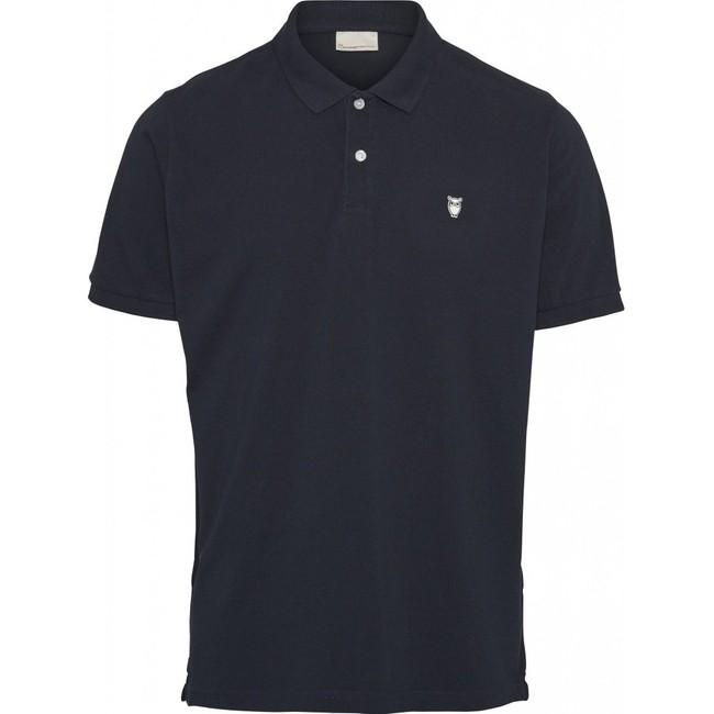 Polo bleu nuit en coton bio - Knowledge Cotton Apparel