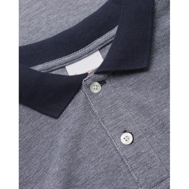 Polo marine en coton bio - rowan - Knowledge Cotton Apparel num 1