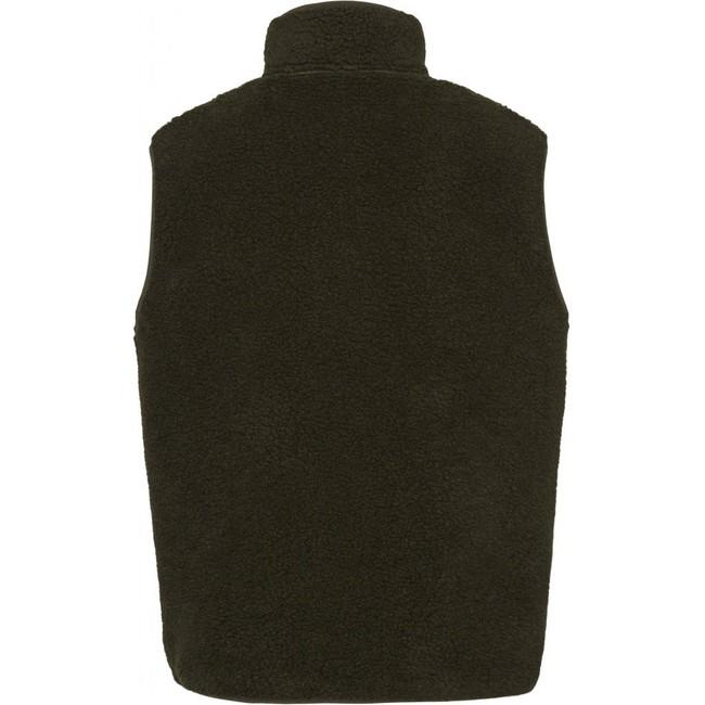Veste polaire sans manches verte en polyester recyclé - Knowledge Cotton Apparel num 1