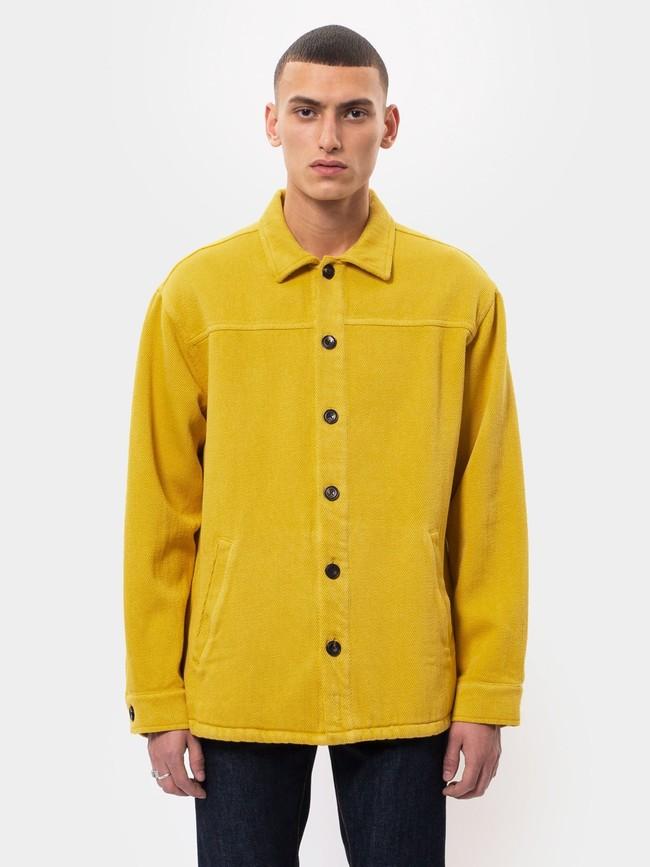 Surchemise jaune twill en coton bio - elias - Nudie Jeans num 1